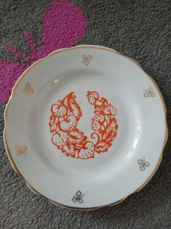 Тарелки СССР фарфор позолота десертные мелкие советские идеал