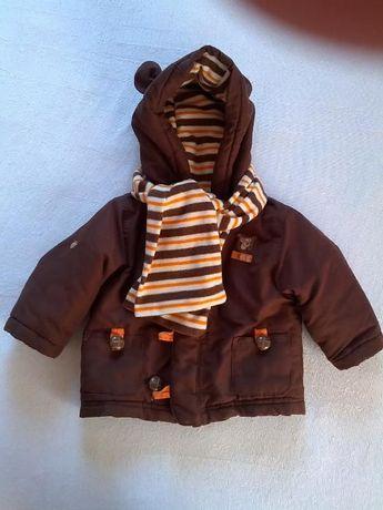 Теплая демисезонная курточка Disney на мальчика, р-р 68