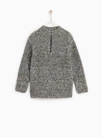 ZARA ciepły sweterek 128/134 chłopięcy WYPRZEDAŻ