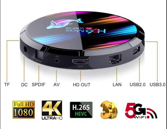 Мощная ТВ приставка H96 MAX X3 4Гб+64Гб/смарт андроид X96 tv box