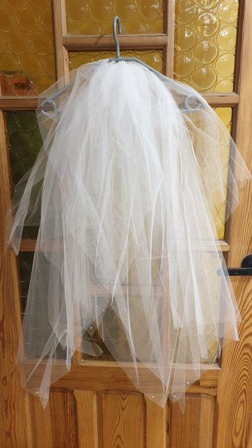 Welon ślubny kryształy Swarovskiego