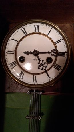 Часы  механические настенные с боем Gustav Becker silesia