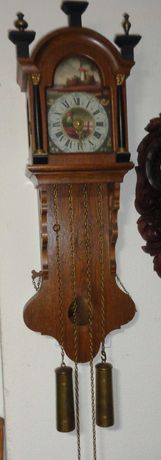 Relógio parede mecânico com pesos