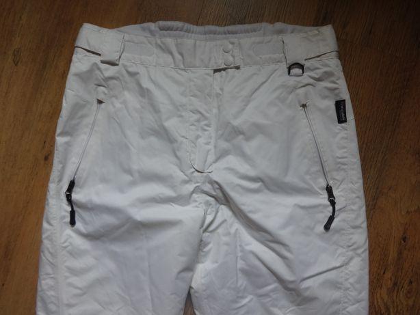 Spodnie narciarskie Thinsulate białe nowe 44