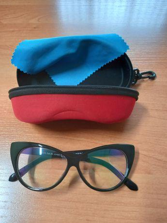 Женские имиджевые очки Кошачий глаз черные для ПК