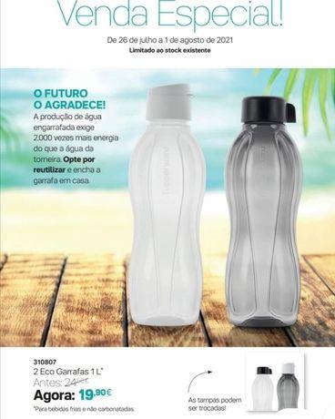 Conjunto de 2 Eco Garrafas de 1 litro Tupperware + oferta