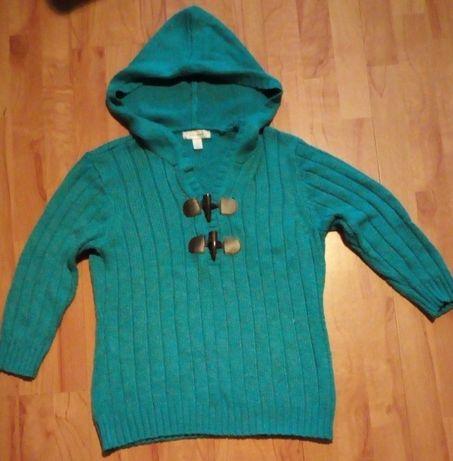 Błękitny sweterek rękaw 4/5 rozmiar L