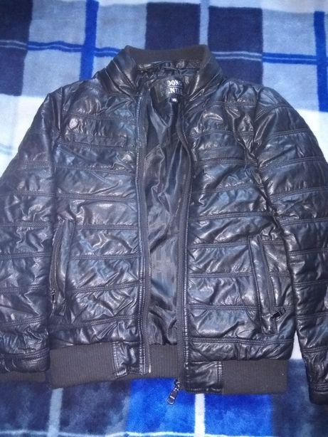 Куртка весенняя классная под кожу 6-10 лет