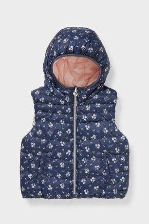 Двусторонняя стеганая куртка с капюшоном -