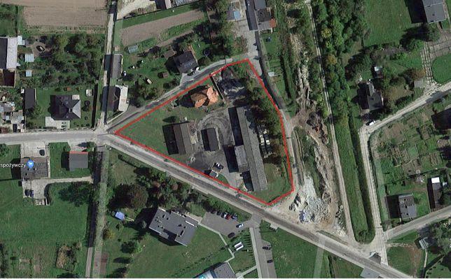 Działka 0,6 ha wraz z domem – autostrada A4, strefa ekonomiczna