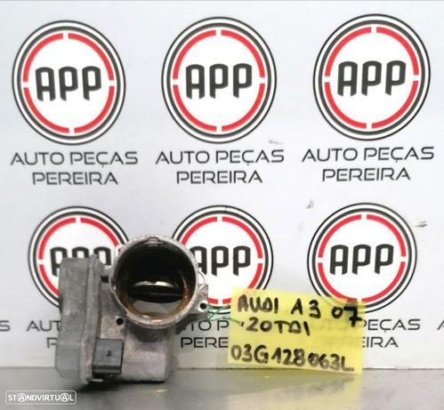 Borboleta de admissão VW Golf 5, Audi A3 8P, Leon 1P 2.0 TDI 170 CV referência 03G128063L.