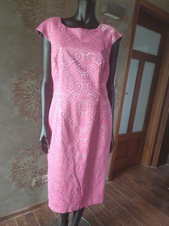 Sukienka next róż-srebro indyjskie wzory