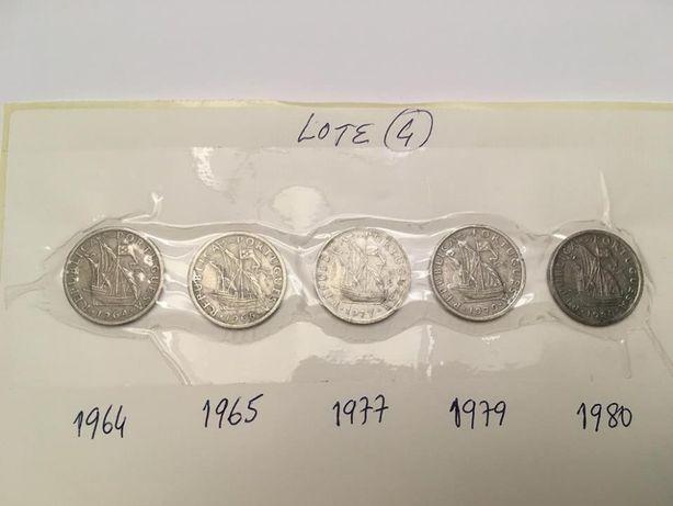 Moedas 2$50 Escudos de 1964, 65, 77, 79 e 80