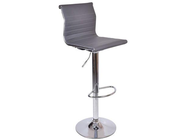 Hoker krzesło barowe SAKI szare obrotowe do kuchni biura