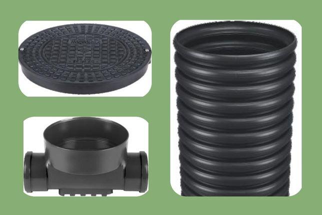 315-160-160 Дренажный смотровой канализационный колодец проходной