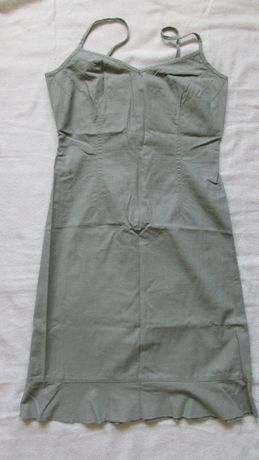 Sukienka HENNES H&M len bawełna 38 idealna