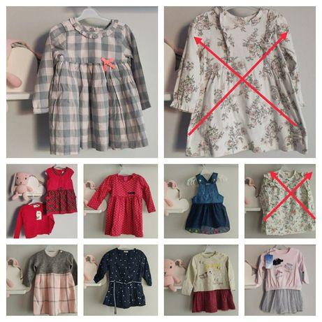 Sukienki nowe, rozmiar 68, 74, 80, newbie, Zara, hm, święta