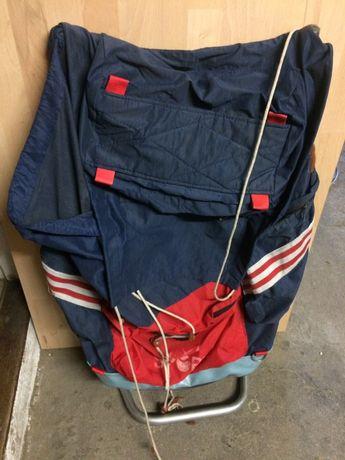 Plecak ze stelażem vintage old plecak turystyczny sportowy