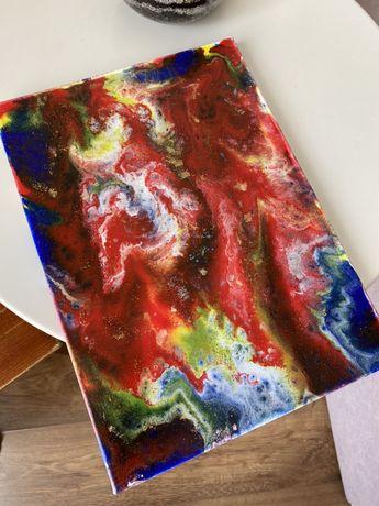 Картины Fluid art в наличии и под заказ