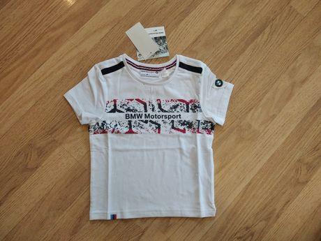 Детская футболка BMW Junior Motorsport T-Shirt White (80142318256/257)