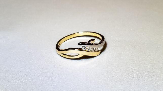 Pierścionek zaręczynowy 4x brylant