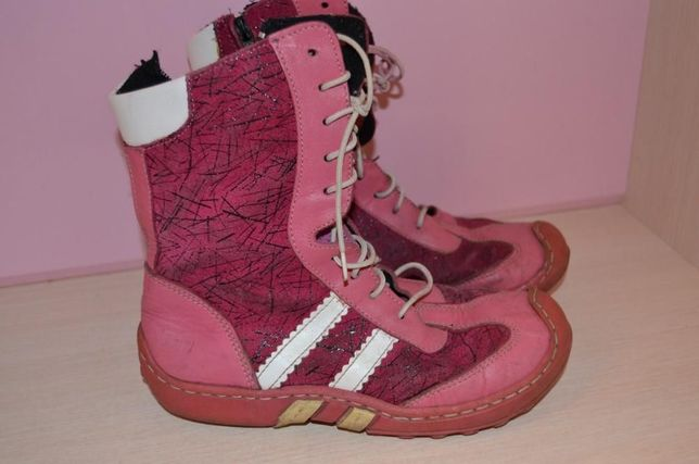 Ботинки замш-кожа стелька 20-20,5 см Фирма ТСМ. Кожа Замш