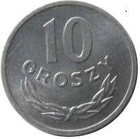 10 groszy - okres PRL-lu