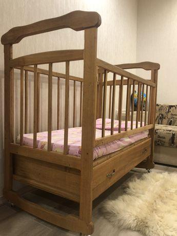 Кроватка Кровать детская деревянная из массива Дуба дубовая
