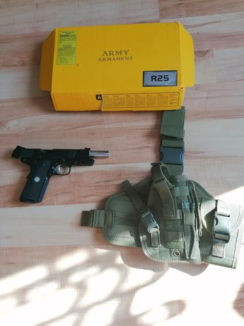 Replika ASG pistoletu Colt 1911 firmy Army armament + panel udowy