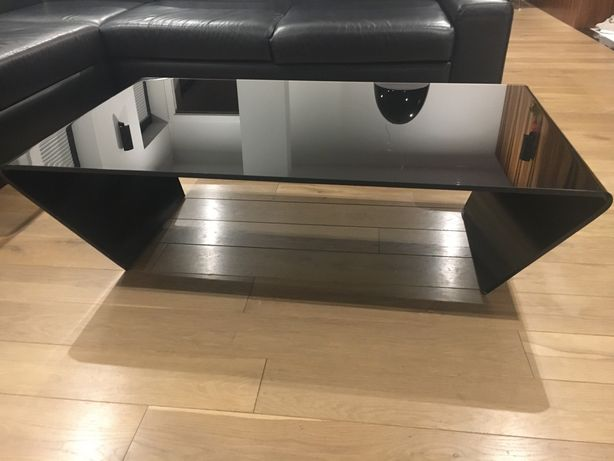 Bo Concept Black Glass Coctail Coffee Table - stolik kawowy