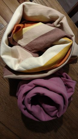 Komplet: chusta elastyczna i chusta tkana
