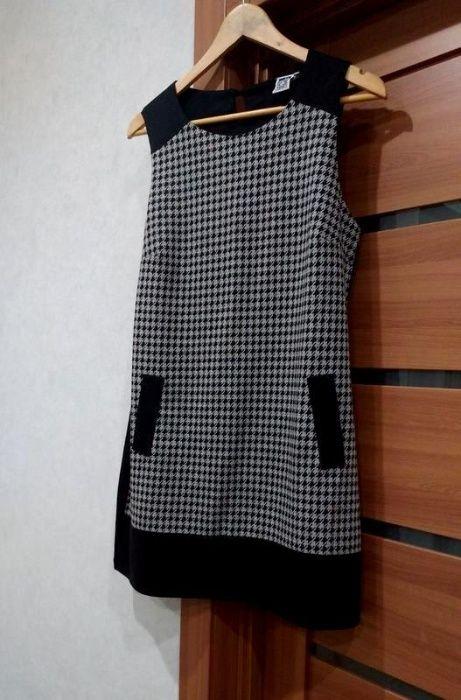 Платье В Клетку/ Гусиная Лапка/ Сарафан/ р. M-L Ровно - изображение 1