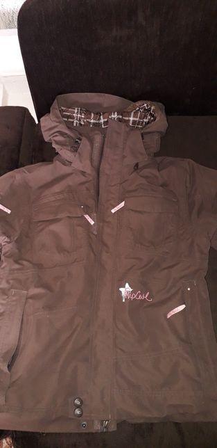 Nowa kurtka zimowa RIP CURL s 36-38 brąz snowboard 10