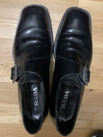 Sapato homem em pele Prada originais