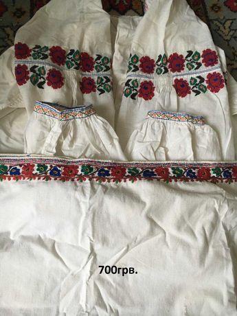 Сорочка старовинна вишита рубашка старинная вышитая вишиванка