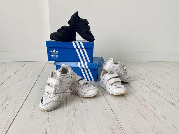 Кроссовки Adidas original КОЖА 25(16 см),черные 26(16,5), 27(17,8 см)