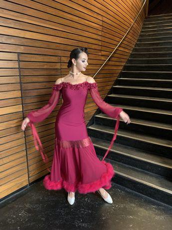 Длинное Платье бальное-стандарт!