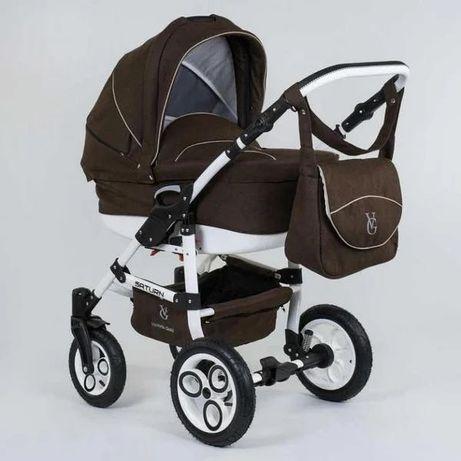 Детская коляска универсальная 2 в 1 Victoria Gold Saturn S Шоколадный