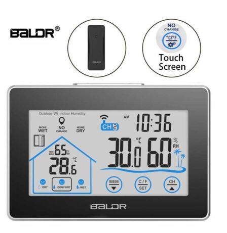 Цифровая метеостанция Baldr с сенсорным экраном, выносным датчиком Hor