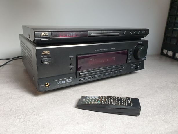 Zestaw DVD+Amplituner JVC RX-5040,XV-N210,super stan,pilot ! 100W/CH