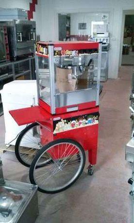 Maquina de pipocas com carrinho NOVA