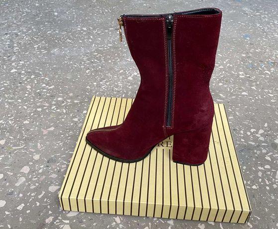 Замшевые осенние женские ботинки, 39 размер, новые