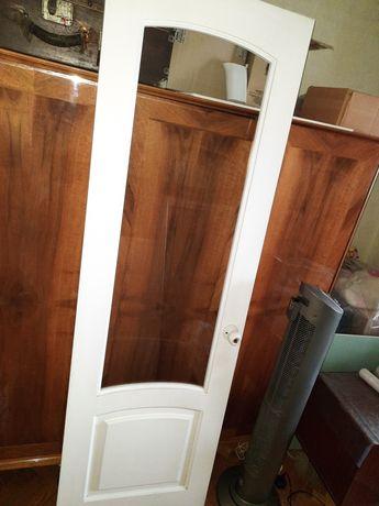 Двері дерев'яні зі склом 2100*666*40