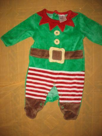 человечек карнавальный новогодний костюм Эльфа гнома на 3 месяца