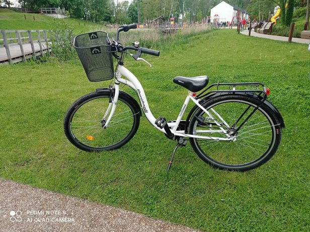 Sprzedam rower biały miejski koła 24