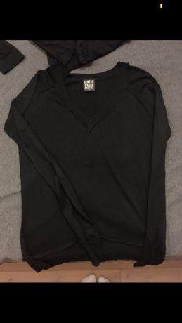 Czarny jedwabny sweterek elegancki SIMPLE stan idealny