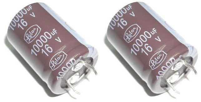 Pack 2 Condensador Electrolitico 10.000uF 16V