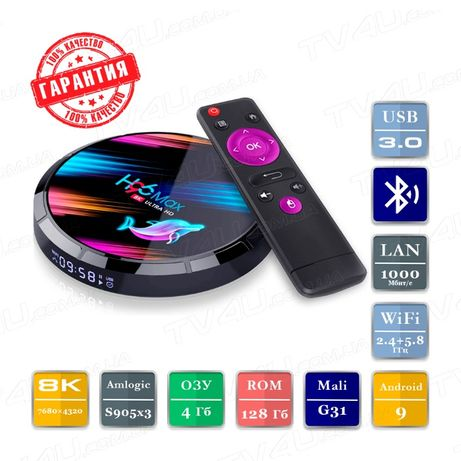 ТВ Приставка H96 Max X3 4/128 S905x3 Smart TV Box Андр 9 A95X X96 Mi
