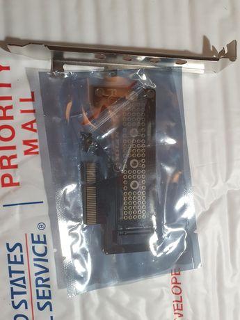 Nvme переходник pci-e 4x с крепежной планкой