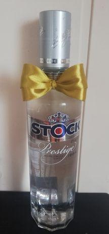 Złote zawieszki na butelkę kokardki na alkohol